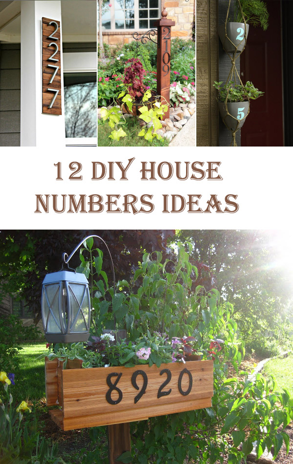 12 Unique DIY House Numbers Ideas