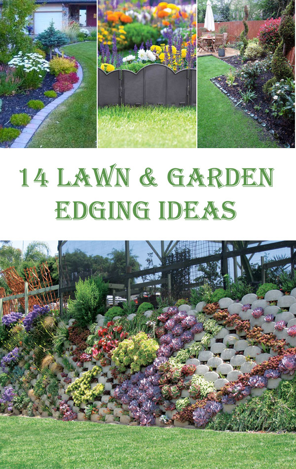 14 Best Lawn And Garden Edging Ideas