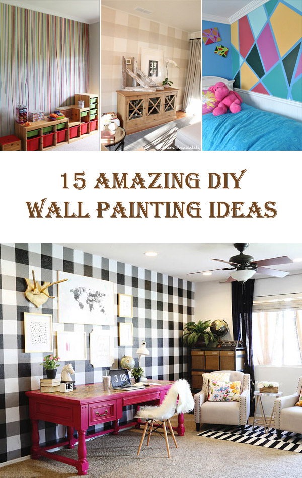 15 Amazing DIY Wall Painting Ideas Diys To Do