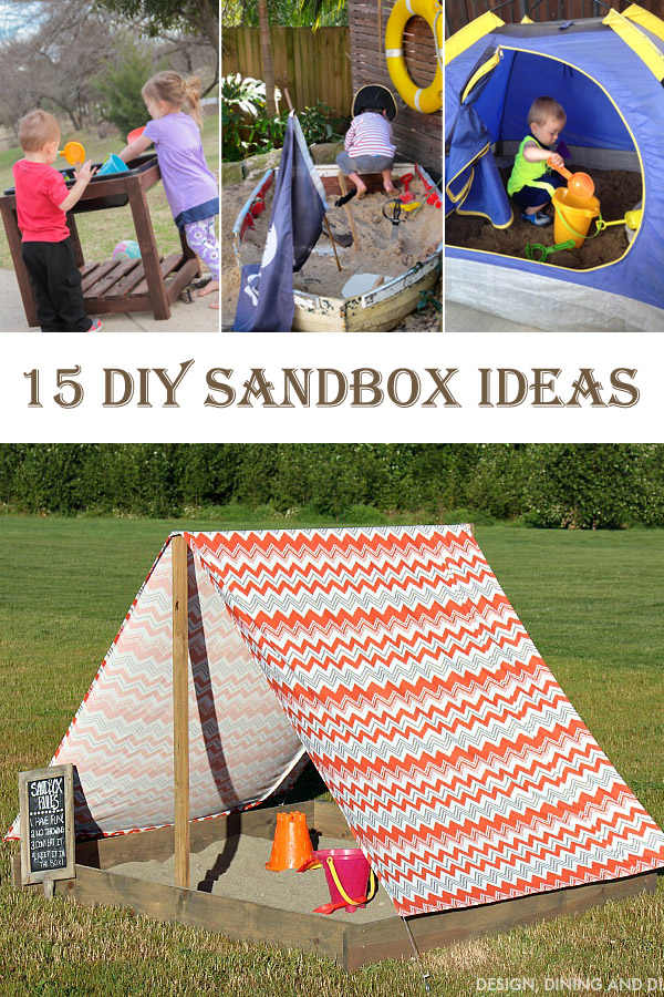 15 DIY Sandbox Ideas