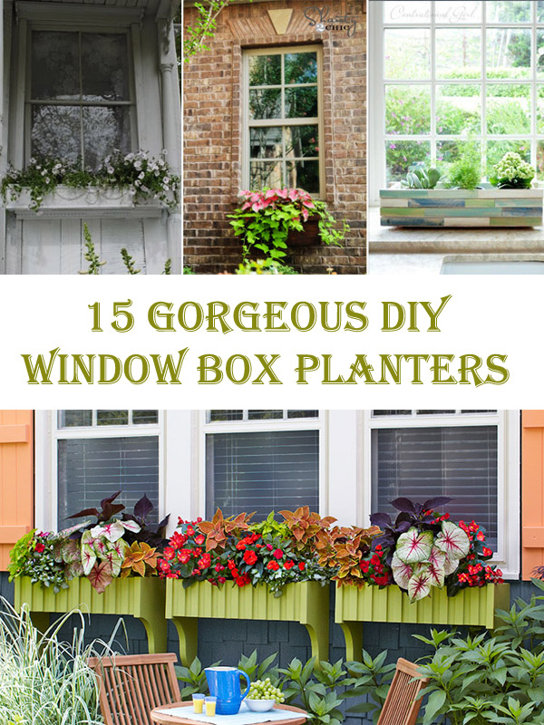 15 Gorgeous DIY Window Box Planters