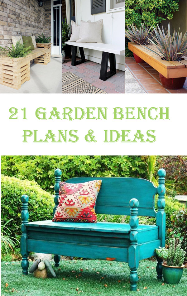 21 Amazing DIY Garden Bench Plans and Ideas