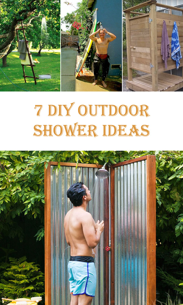 7 DIY Outdoor Shower Ideas