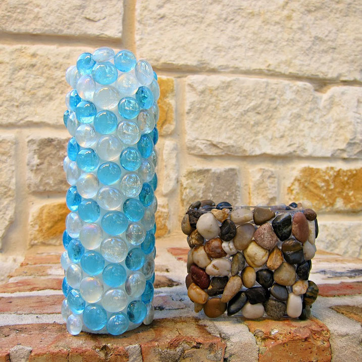 Accent Stone Candle Holders