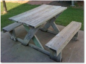 All-In-One Picnic Table Plans