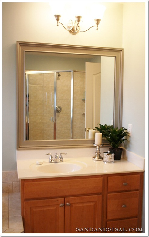 Baseboard Framed Mirror