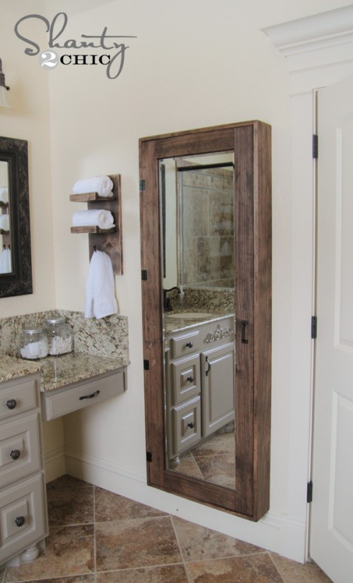 Bathroom Mirror Storage Case