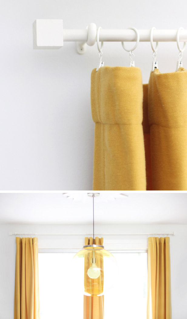 Budget Curtain Rod & Finial DIY