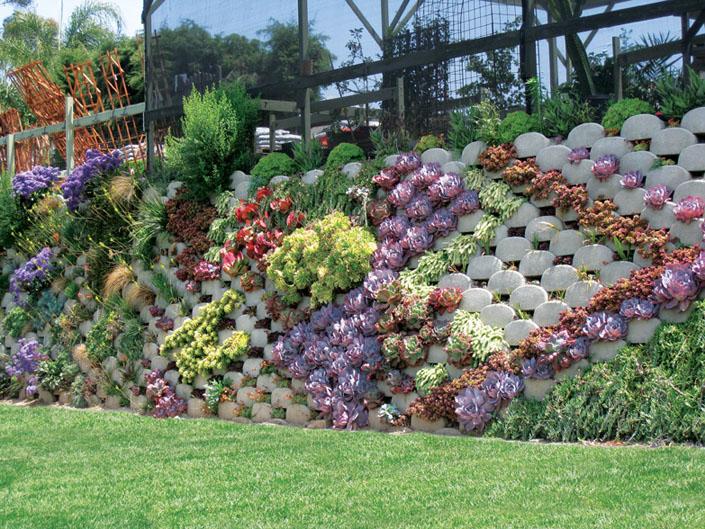 Cascading Garden Wall
