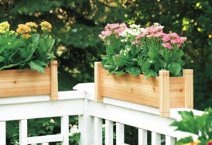 Cedar Railing Planter Box