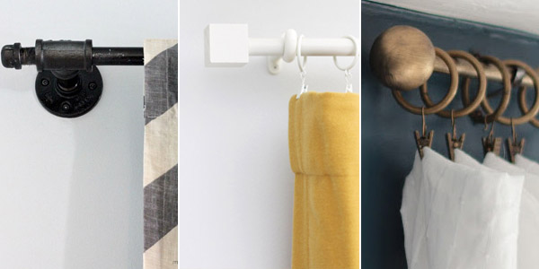 Cheapest DIY Curtain Rods