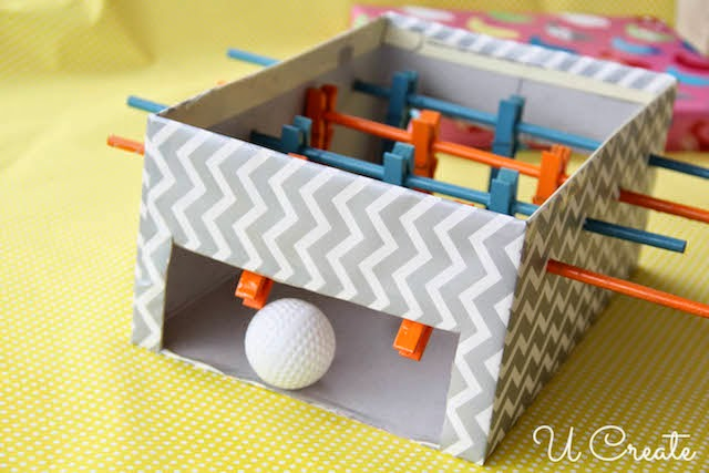 Clothespin Foosball Table