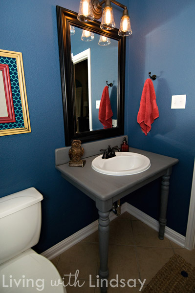 DIY Bathroom Vanity From an Old Dining Table
