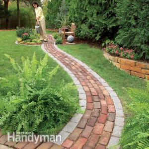 DIY Brick Pathway