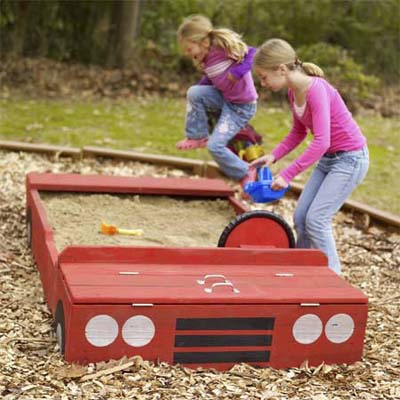 DIY Car Sandbox