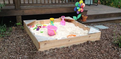 DIY Cedar Sandbox