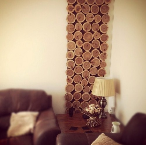 DIY Cedar Wood Wall Hanging