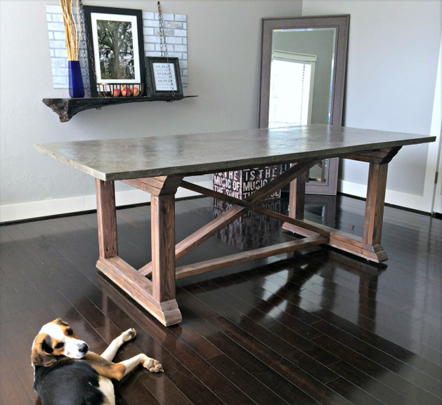 DIY Concrete Dining Table From Uncookie Cutter