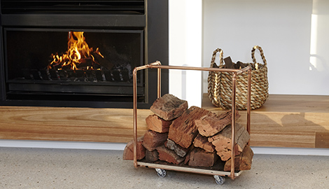 DIY Copper Firewood Rack