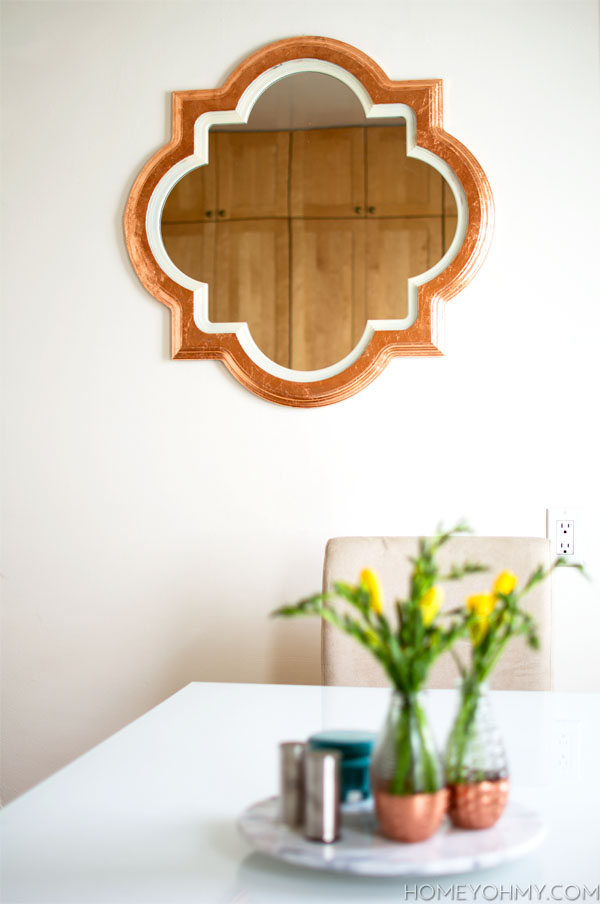 DIY Copper Leaf Mirror