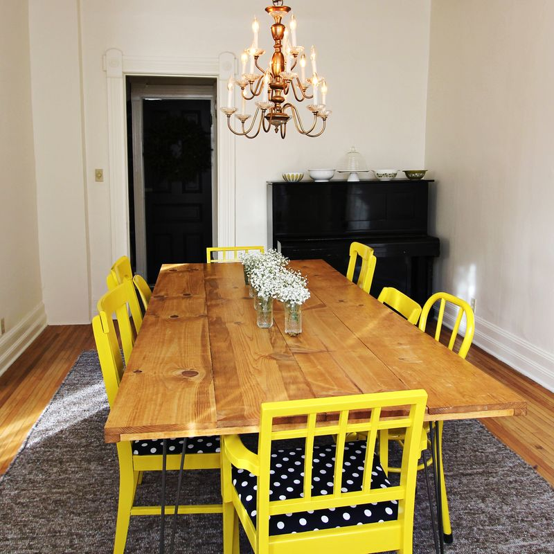 DIY Dining Room Table From Beautiful Mess