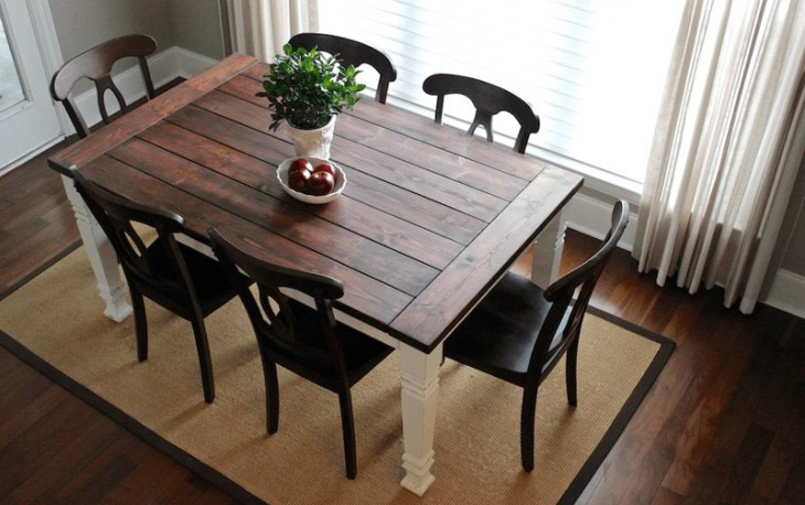 DIY Farmhouse Dining Table From Rogue Engineer