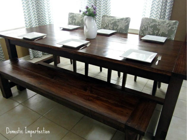 DIY Farmhouse Table From Domestic Imperfection