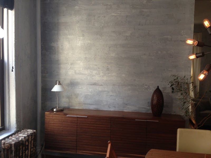 DIY Faux Concrete Wall