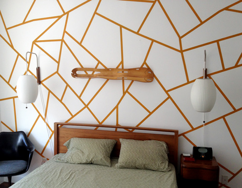 DIY Geometric Painted Wall