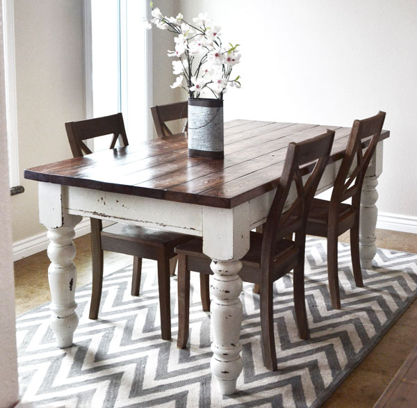 DIY Husky Farmhouse Table From Ana White