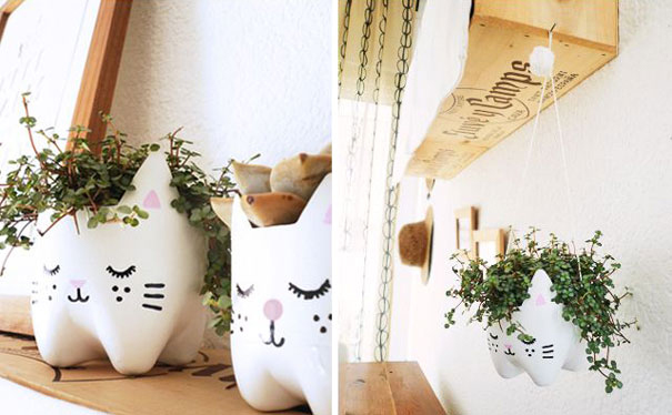 DIY Kitty Plant Pot