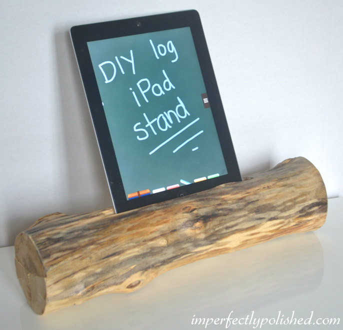 DIY Log iPad Stand