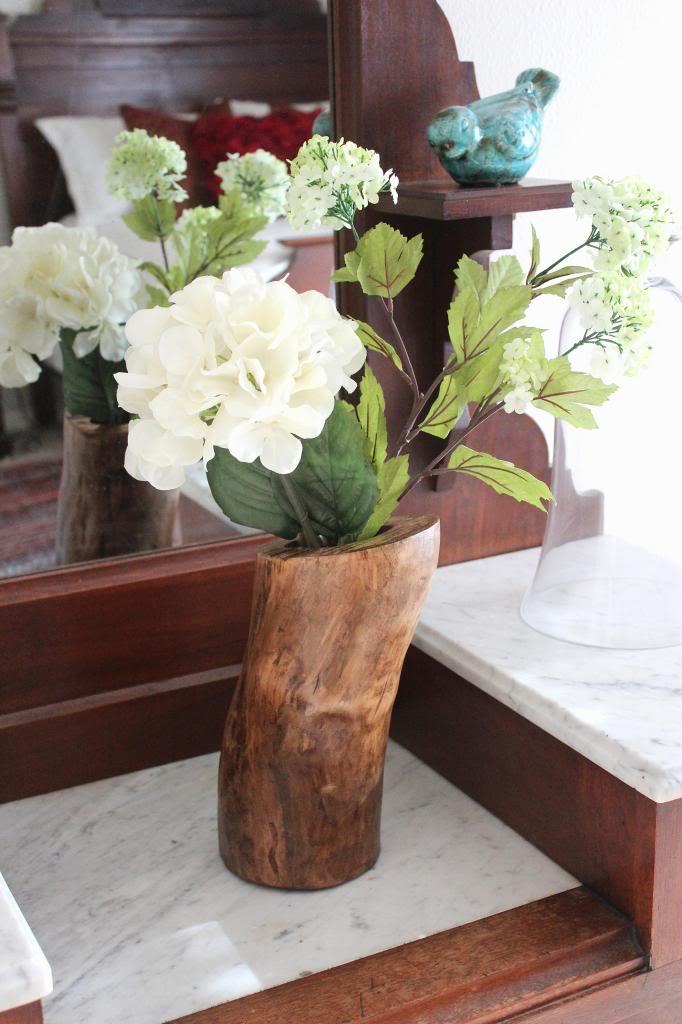DIY Log Vase