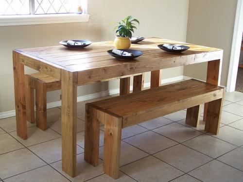 DIY Modern Farm Table From Ana White