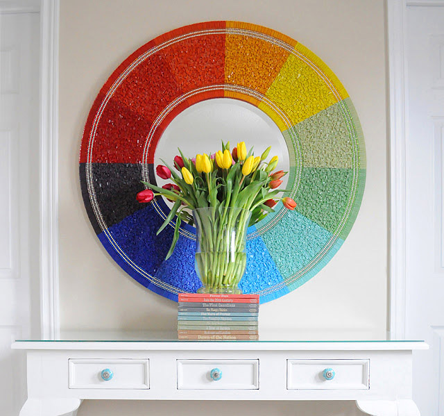 DIY Mosaicworks Glass Tile Rainbow Mirror