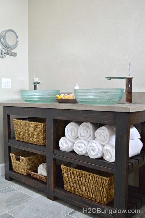 DIY Open Shelf Vanity