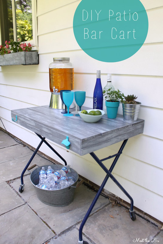DIY Outdoor Bar Cart