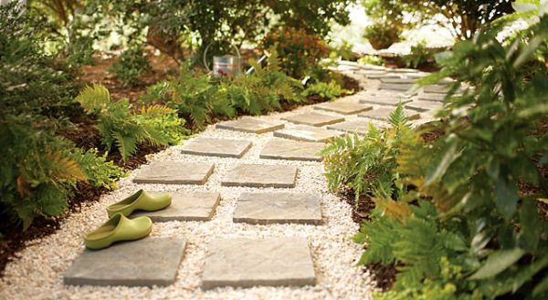 DIY Paver Garden Path