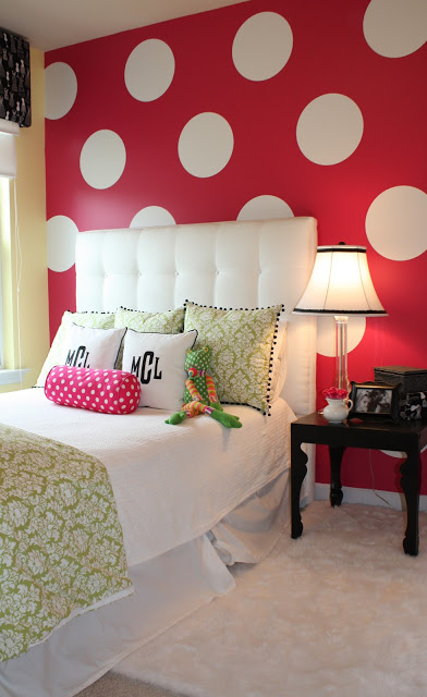 DIY Polka Dots On a Wall