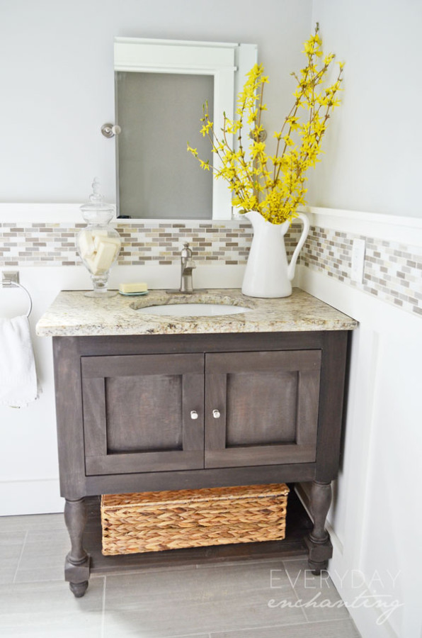 DIY Pottery Barn Inspired Sink Console