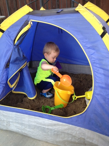DIY Repurposed A Kids Tent Into A Sandbox