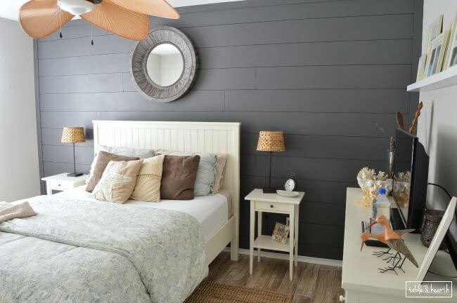 DIY Shiplap Wall