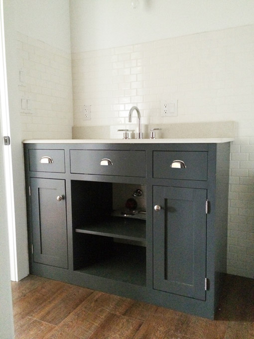 DIY Simple Gray Bath Vanity