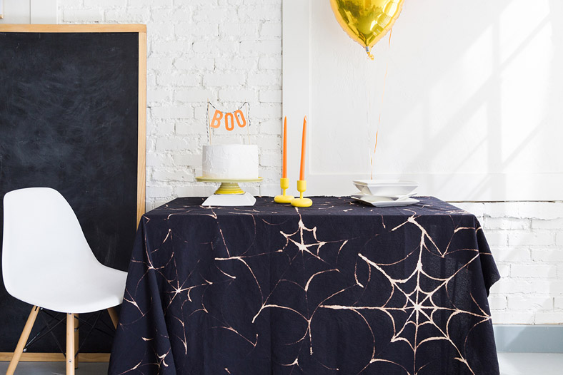 DIY Spiderweb Tablecloth