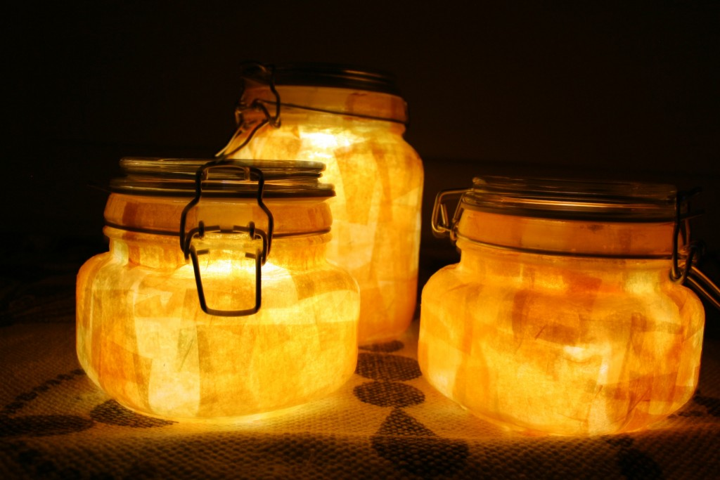 DIY Sun Jar Lights