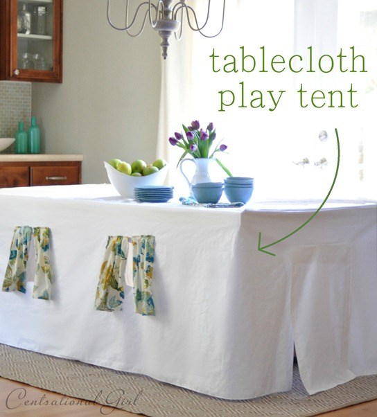 DIY Tablecloth Play Tent