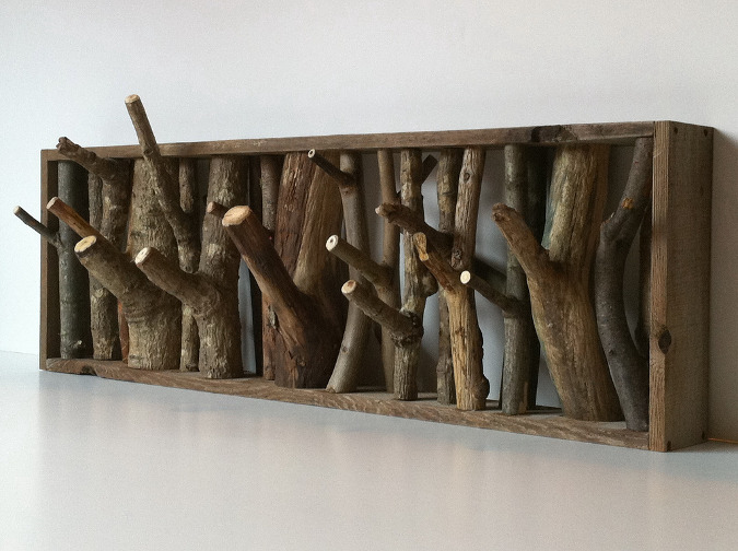 DIY Tree Branch Coat Rack
