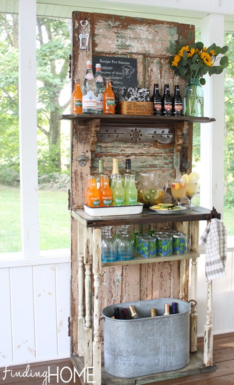 DIY Upcycled Outdoor Beverage Station