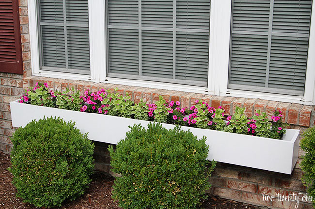 DIY Window Box Planter From Two Twenty One