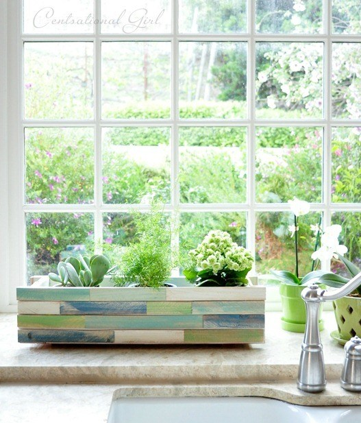 DIY Wood Shim Window Box Planter From Centsational Girl